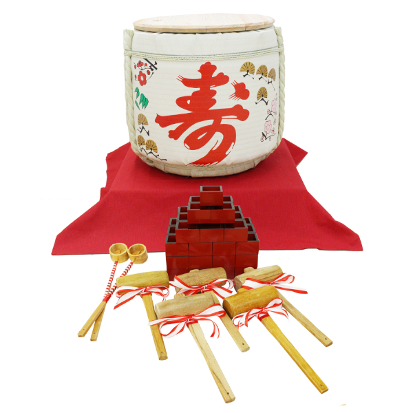 樽酒用菰樽 4斗(寿)鏡開きセットのレンタル | ダーリング