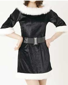 サンタドレス黒