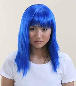 カラーウィッグ ブルー