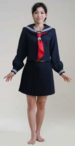 ミニスカセーラー服(紺色・白色)