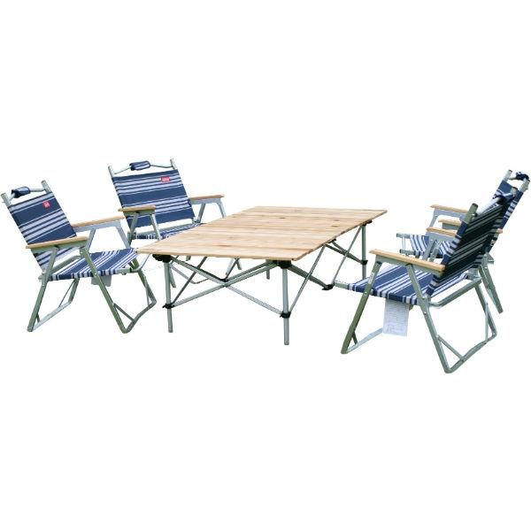 コールマン ロースタイルテーブル・チェアセット(ブルー)